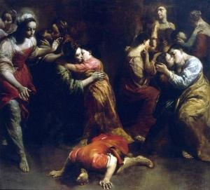 Giuseppe Crespi - Brutus Kissing the Earth (1725)