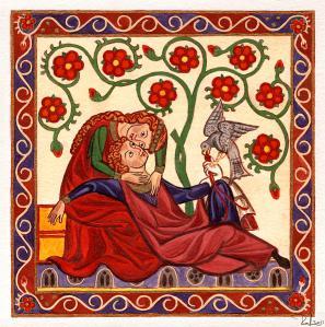 lady-and-knight-with-hawk-raffaella-lunelli