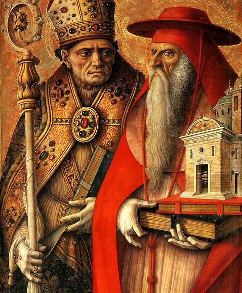 Carlo Crivelli, Sant'Agostino (misschien!) e San Girolamo, 149x
