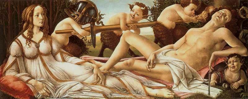 Sandro Botticelli - Venere e Marte 1482-1483