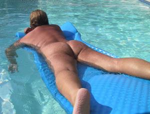 naked swimmer