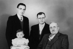 Patrick, Marcel, Kamiel en Richard Hackx, viergeslacht 1957