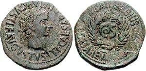 Munt Tiberius (31 nC) - Damnatio memoriae van Sejanus