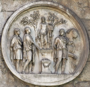 Rome, Arch of Constantine. Sacrifice to Apollo. Relief on the Ar