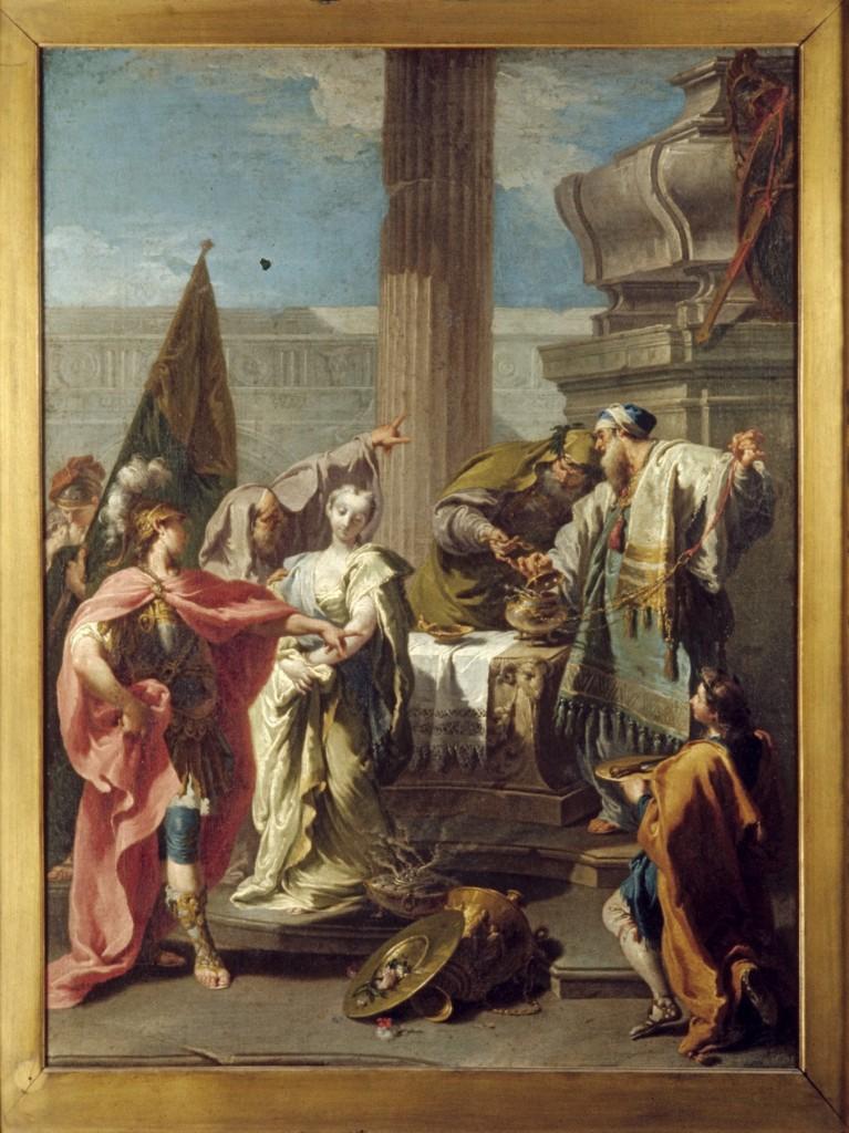 Giovanni Battista Pittoni de Jongere, Il sacrificio di Polissena sulla tomba di Achille, ca. 1735 (2)