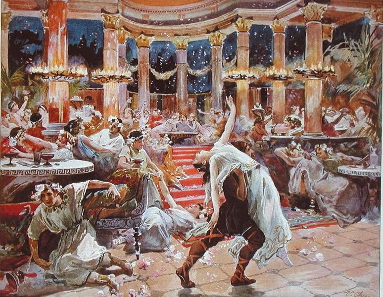Ulpiano Checa, El banquete de Nerón, ca. 1910
