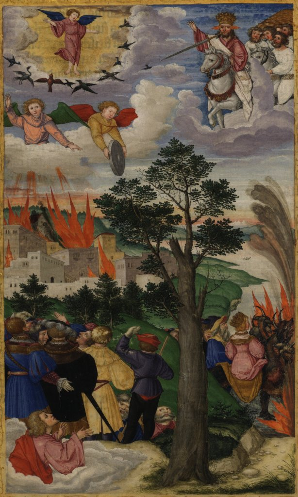 Val van Babylon (Ottheinrichbijbel, folio 302v.)