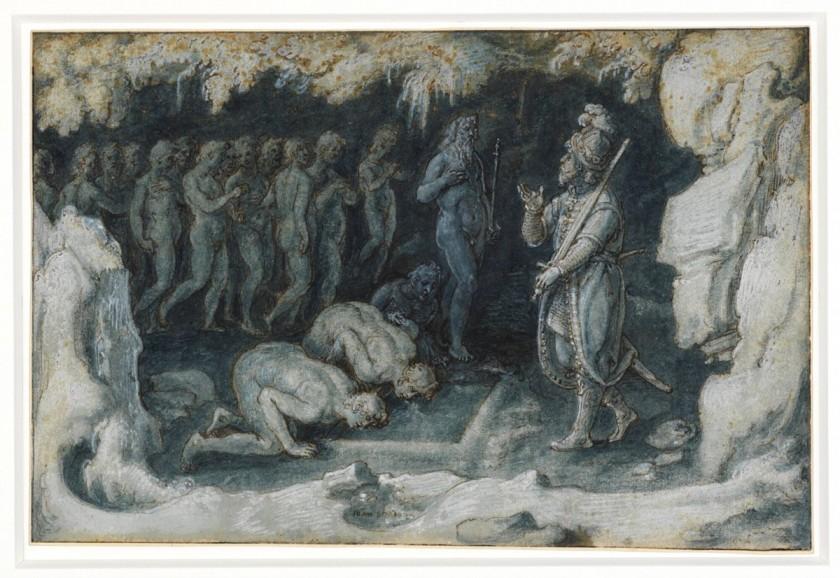 Johannes Stradanus, Odysseus bij de toegang van Hades, ca. 1600-05