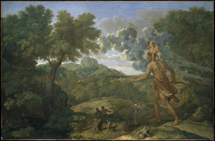 Nicolas Poussin, Orion aveugle cherchant le soleil, 1658
