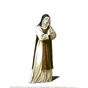 Paul Mercuri, Medieval nun, ca. 1850-70
