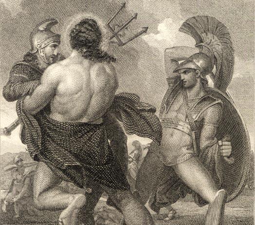 Henry Howard (kopie naar), Poseidon komt tussenbeide in de Trojaanse oorlog, 1805