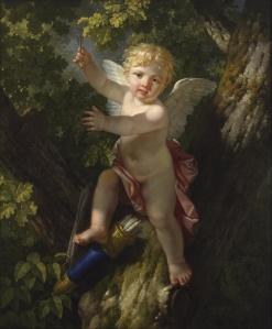 Jean-Jacques le Barbier, L'Amour sur un arbre lançant ses traits, 1806