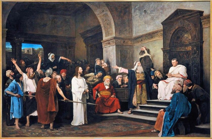 Mihály Munkácsy, Christus voor Pilatus, 1881