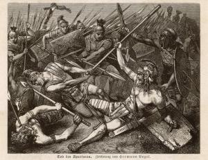 Hermann Vogel, Tod des Spartacus, 1882
