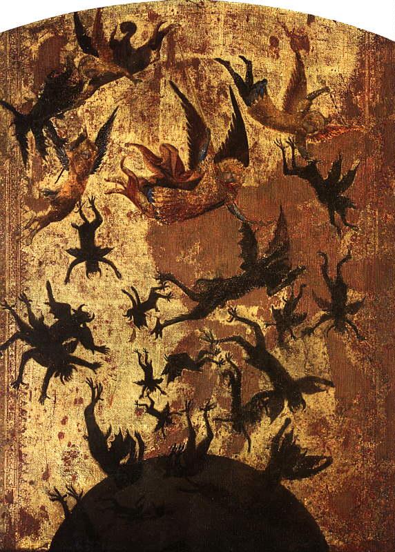 Maestro degli angeli ribelli, Gli angeli ribelli, 14e eeuw