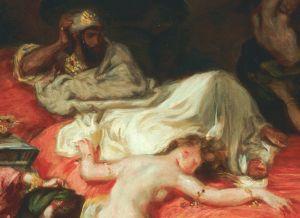 Eugène Delacroix, La mort de Sardanapale, 1827 (detail)