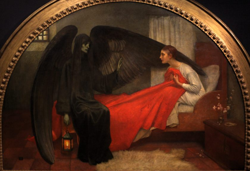 Marianne Stokes, Death and the Maiden, ca. 1908