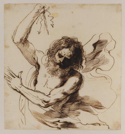 Guercino, Giove lanciando un fulmine, ca. 1645