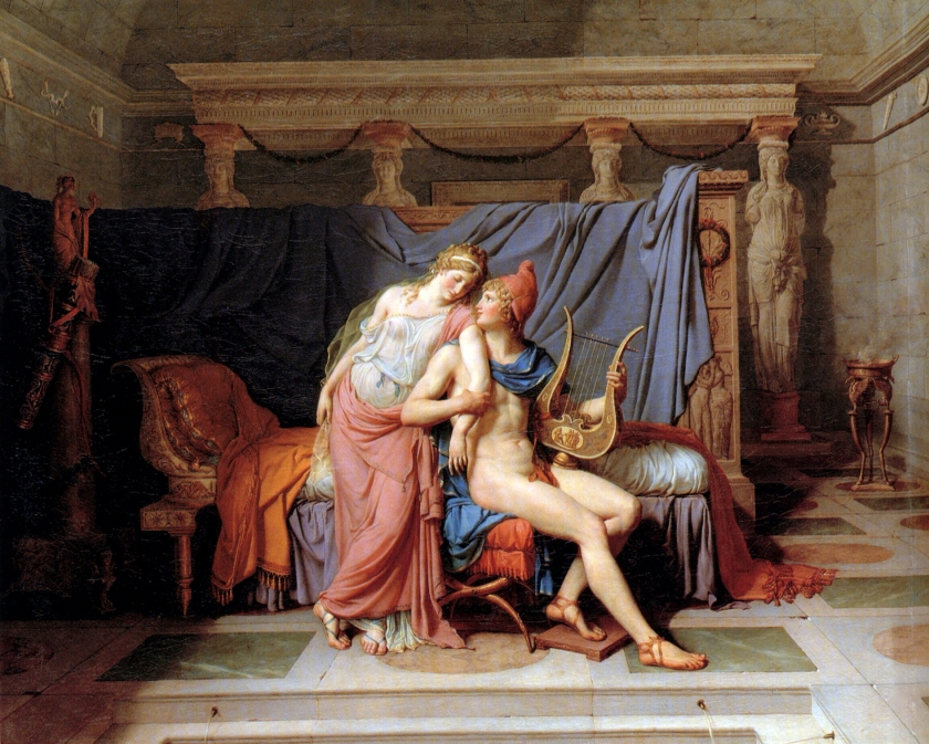Jacques-Louis David, L'amour d'Hélène et Paris, 1788