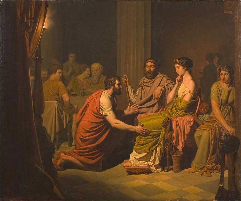 August Malmström, Odysseus inför Fajakernas konung Alkinoos, 1853