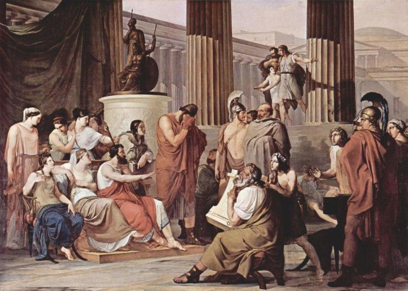 Francesco Hayez, Ulisse alla corte di Alcinoo, 1814-15
