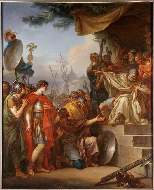 Jean-Simon Berthélemy, Manlius Torquatus condamnant son fils à mort, 1785