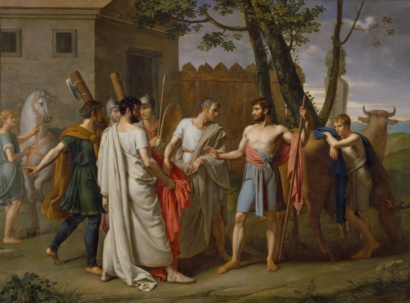 Juan Antonio Ribera, Cincinato abandona el arado para dictar leyes a Roma, ca. 1806