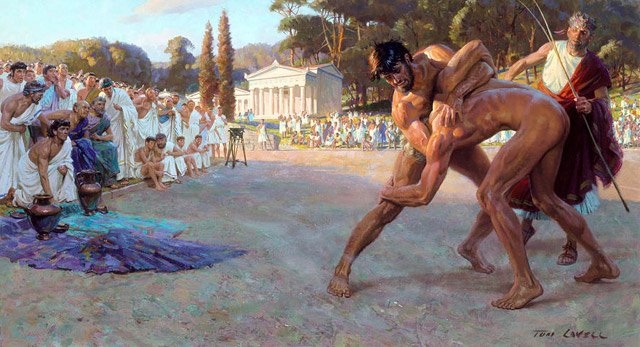 Tom Lavell, A recreation of ancient wrestling