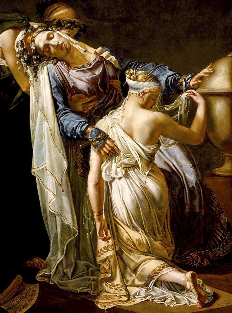 merry-joseph blondel, hécube et polyxène, 1814