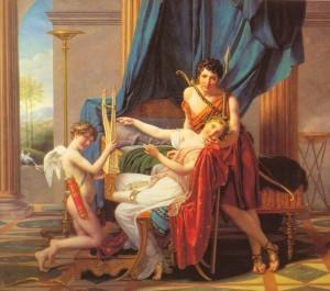Jacques-Louis David, Sapho, Phaon et l'Amour, 1809
