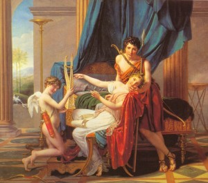 Jacques-Louis David, Sapho, Phaon et l'Amour, 1809