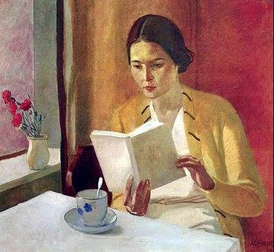 Aleksandr Deyneka, Girl with book, 1934