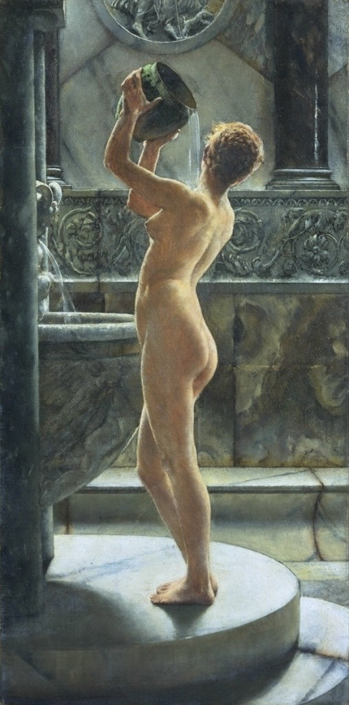 John Reinhard Weguelin, The bath, 1884