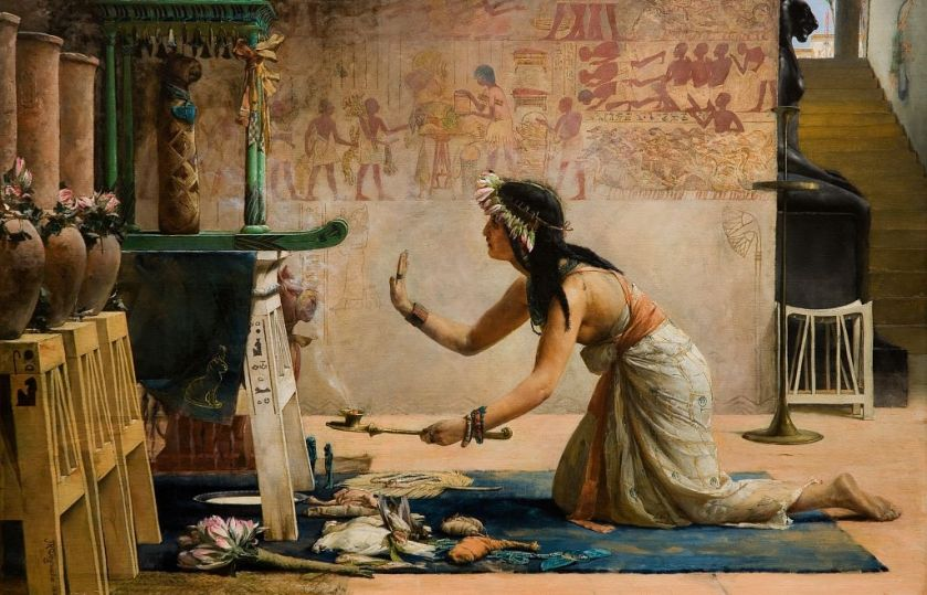John Reinhard Weguelin, The obsequies of an Egyptian cat, 1886