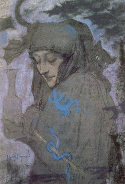Lucien Levy-Dhurmer, The sorceress, 1897