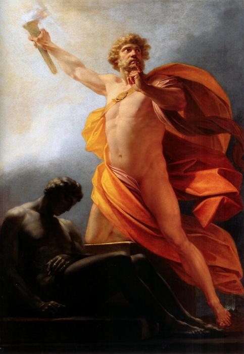 Heinrich Friedrich Füger, Prometheus bringt den Menschen das Feuer, ca. 1817