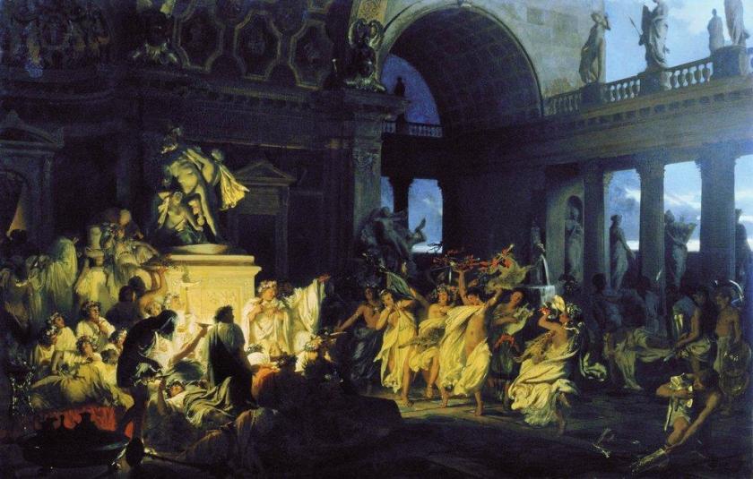 Henryk Siemiradzki, Romeinse orgie in de tijd van Caesar, 1872