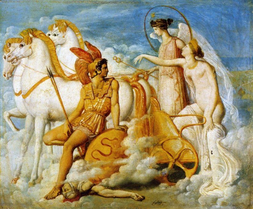 Jean-Auguste-Dominique Ingres, Vénus blessée par Diomède, 1800