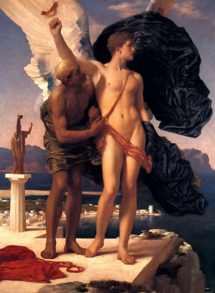 Frederic Leighton, Icarus and Daedalus, ca. 1869