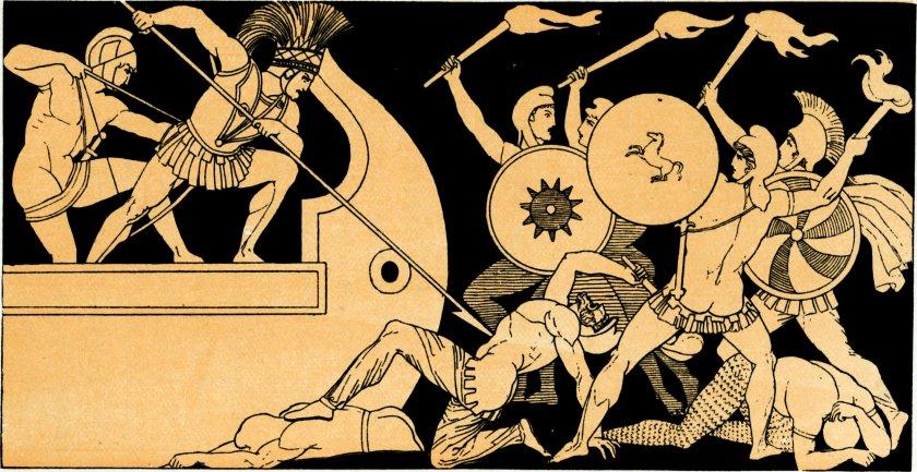 John Flaxman, Ajax defending the Greek Ships against the Trojans